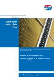 Epoxy resin coated plate fins - Güntner