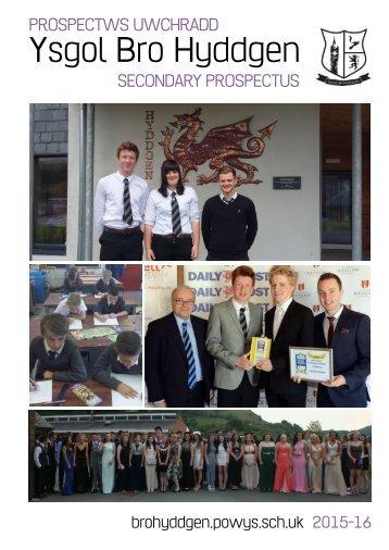 Prosbectws Campws Uwchradd - Secondary Campus Prospectus