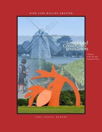 2008 Annual Report - Long Island Community Foundation