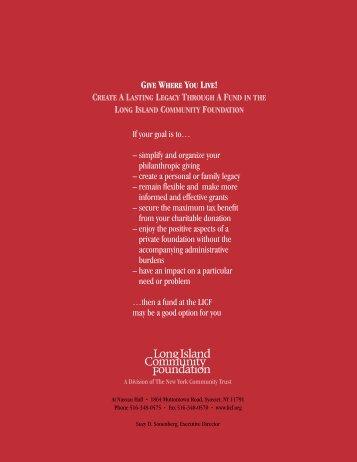 2007 Annual Report - Long Island Community Foundation