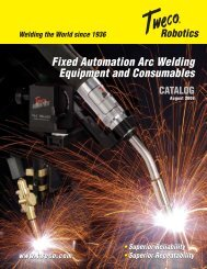 Fixed Automation Arc Welding Equipment and Consumables