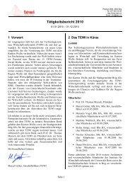 Tätigkeitsbericht 2010 (pdf 537 KB) - TEWI