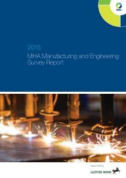 2015 MHA Manufacturing and Engineering Survey Report