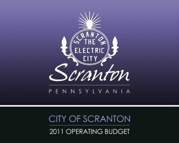 CITY OF SCRANTON – 2011 OPERATING BUDGET
