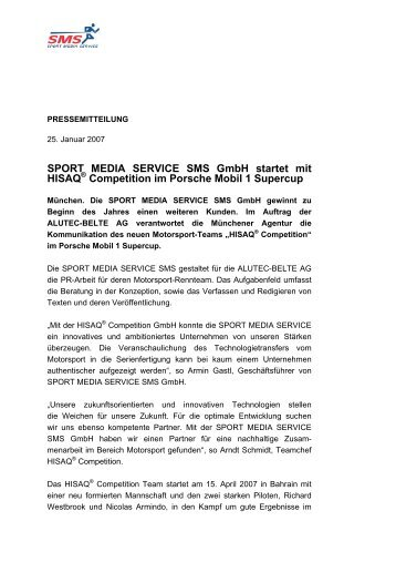 SPORT MEDIA SERVICE SMS GmbH startet mit HISAQ