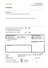 Sportmedizinischer Anamnesebogen - Sportmedizin Oberland