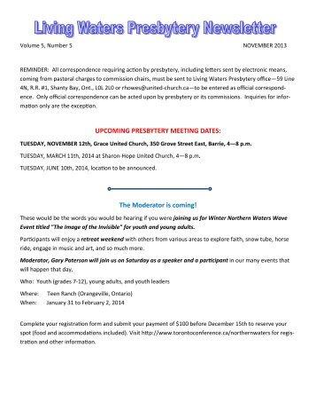 correspondence informaon registraon