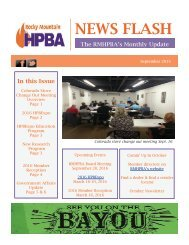 RMHPBA September News Flash 2015