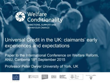 Universal Credit in the UK claimants' early experiences and expectations