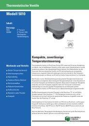 Thermostatische Ventile Modell 5010