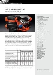 DI16 071M. 460 kW (625 hp)