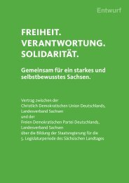 Koalitionsvertrag - FDP Sachsen