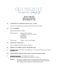 SELECT BOARD MEETING MINUTES SEPTEMBER 20 2011