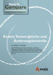 Exakte Textvergleiche und Änderungskontrolle