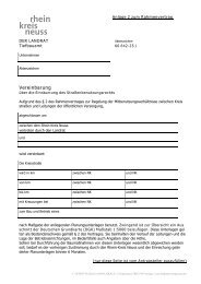 Vereinbarung - Rhein-Kreis Neuss