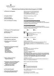 Öffentliche Ausschreibung; Bekanntmachung gem. § 12 VOB/A