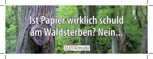 Ist Papier wirklich schuld am Waldsterben? Nein..