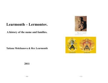 LEARMONTH-LERMONTOV. A HYISTORY OF THE NAME AND FAMILIES