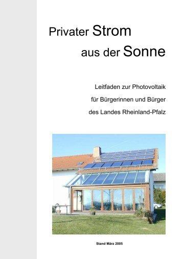 Privater Strom aus der Sonne - Photovoltaik Kress