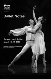Ballet Notes - Romeo and Juliet - The National Ballet of Canada