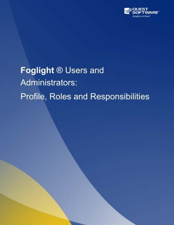 Foglight - Quest Software