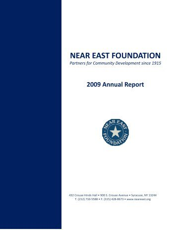 Near East Foundation 2009 Annual Report