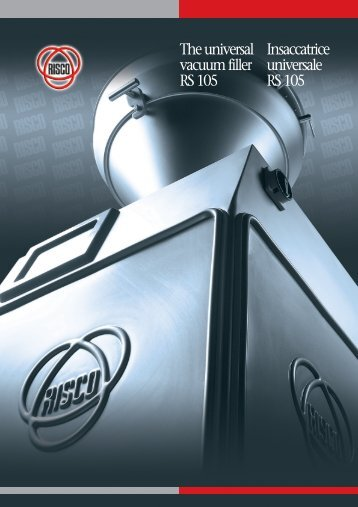The universal vacuum filler RS 105 Insaccatrice universale RS 105