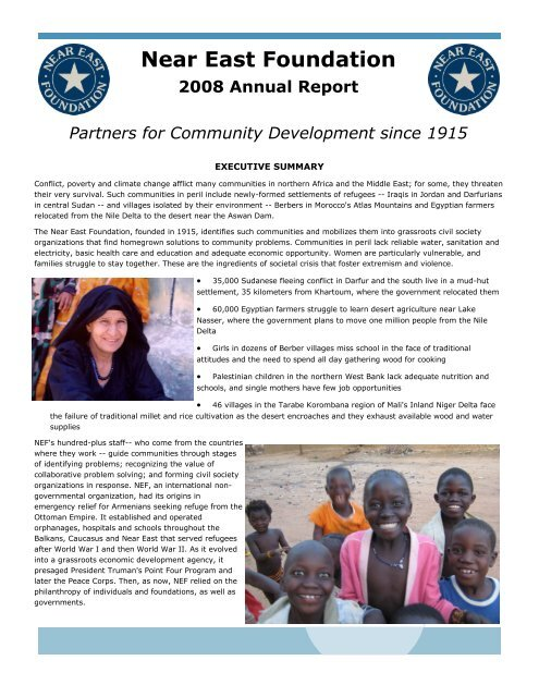 Near East Foundation 2008 Annual Report