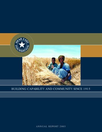 Near East Foundation 2003 Annual Report