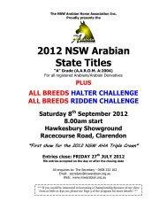2012 NSW Arabian State Titles