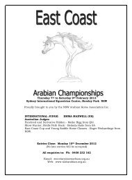 PROGRAM - NSW Arabian Horse Association