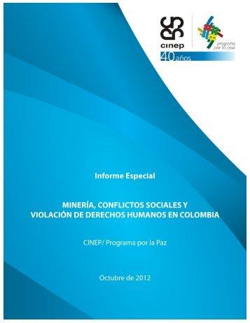 Minería, conflictos sociales y violación de los derechos