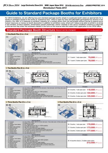 Guide to Standard Package Booths for Exhibitors