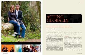 Acting globAlly - University of Washington Foster School of Business