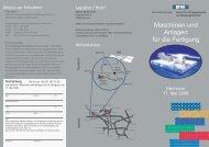 Maschinen und Anlagen für die Fertigung - IFW