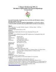 A Magyar Köztársaság 2010. évi Rövidtávú Tájékozódási ... - MTFSz