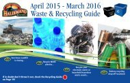 April 2015 - March 2016 Waste & Recycling Guide