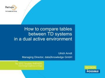 in a dual active environment