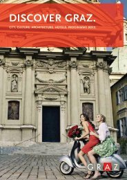 Discover Graz 2012 (sights, events, excursions ... - Graz Tourismus