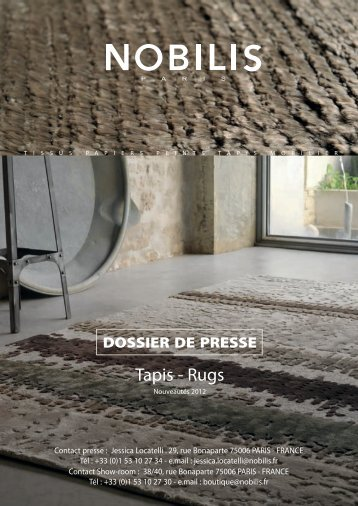 DOSSIER DE PRESSE Tapis - Rugs - Nobilis