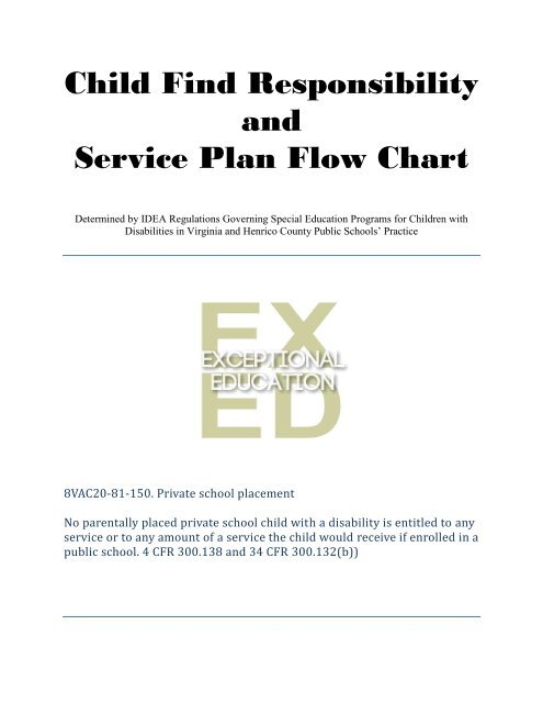 Child Find Responsibility And Service Plan Flow Chart