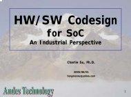 HW/SW Codesign