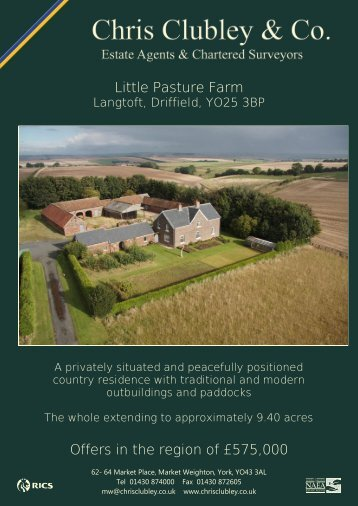 Little Pasture Farm Offers in the region of £575,000