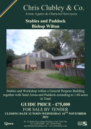 Stables and Paddock Bishop Wilton GUIDE PRICE - £75,000