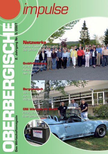 Oberbergische Impulse III / 2007 - und TechnologieCentrum ...