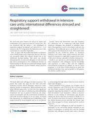Respiratory support withdrawal in intensive care units ... - Critical Care