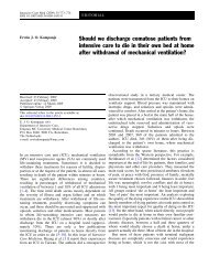 Should we discharge comatose patients from intensive care to die in ...