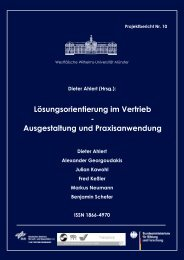 Lösungsorientierung im Vertrieb - Marketing Center Münster