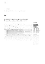 Gennemgang af uddannelsesindikatorer til brug for fordeling ... - arkiv