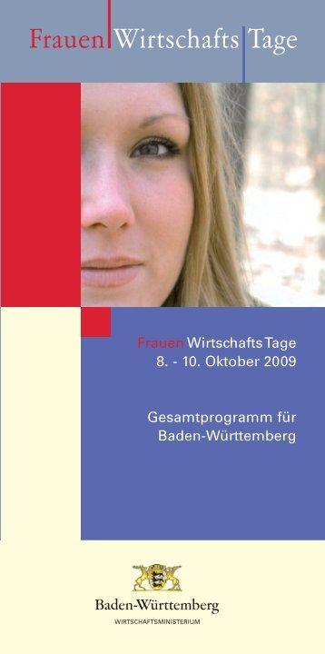 Frauen Wirtschafts Tage - wirtschaft-suedwest.DE